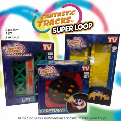 Fantastic Tracks Super Loop - kit cu 5 accesorii suplimentare