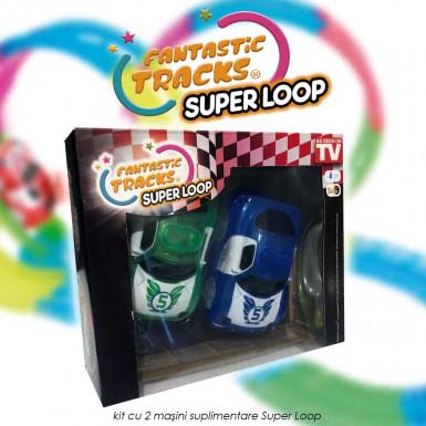 Fantastic Tracks Super Loop - kit cu 2 masini suplimentare