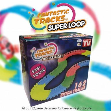 Fantastic Tracks Super Loop - kit cu 162 piese suplimentare pentru traseu