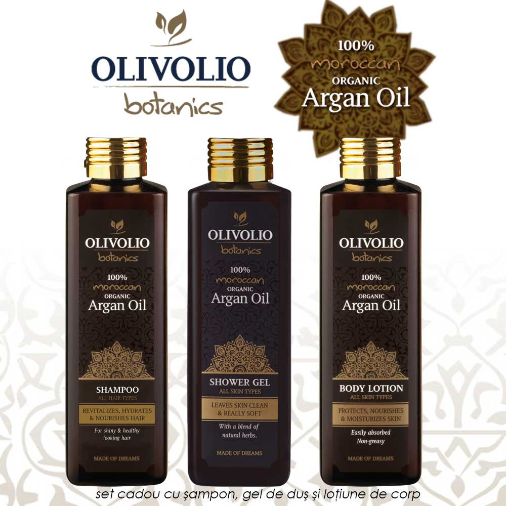 Olivolio Botanics Argan Oil set