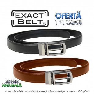 Exact Belt real leather offer 1+1