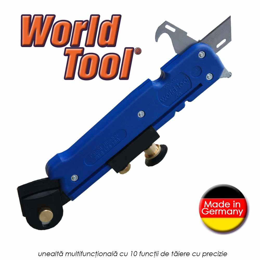 World Tool -  unealta multifunctionala cu 10 functii de taiere cu precizie
