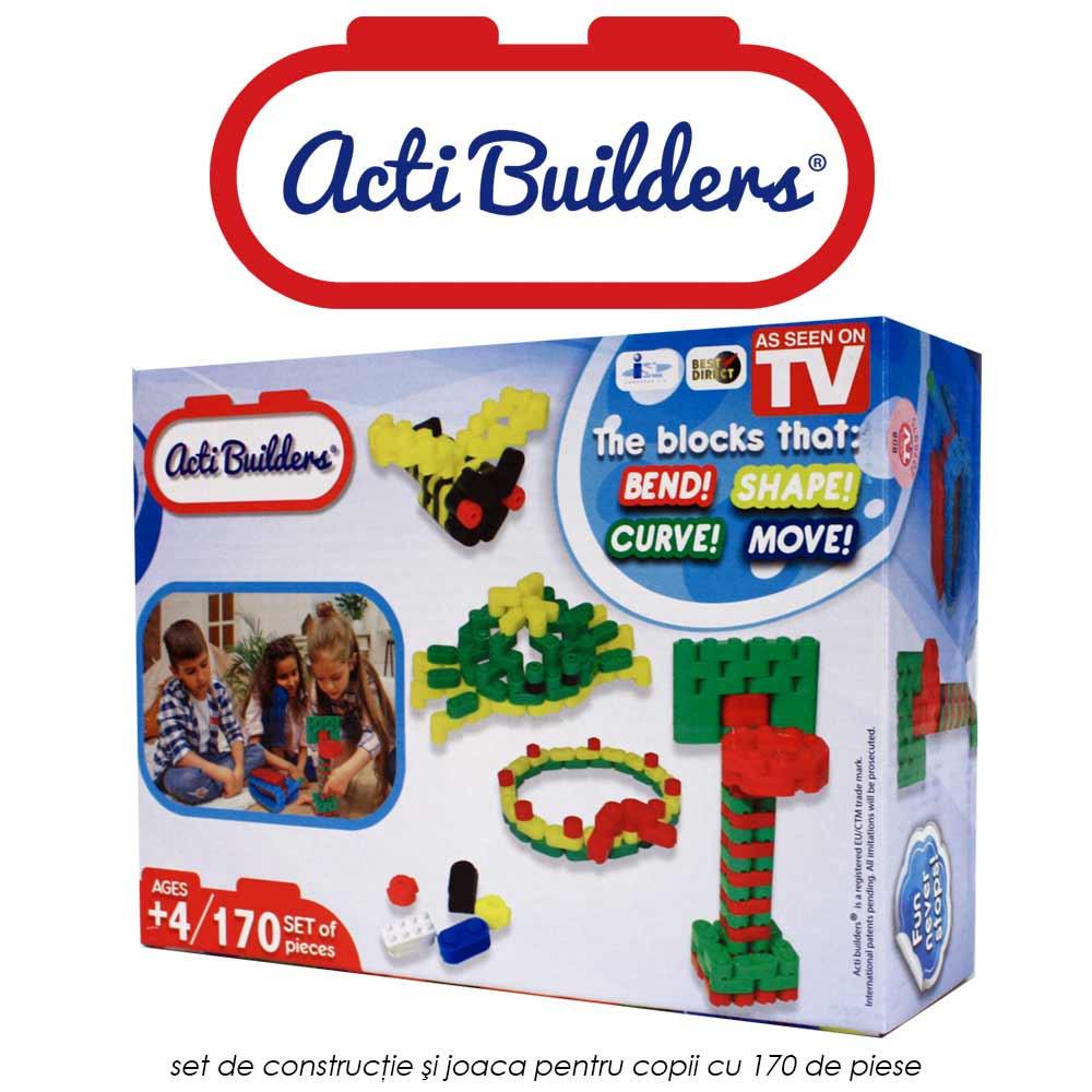 Acti Builders - set de constructie si joaca pentru copii cu 170 de piese