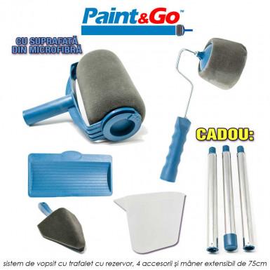 Paint Go - noul sistem de vopsit cu trafalet cu rezervor, 4 accesorii si maner extensibil de 75cm