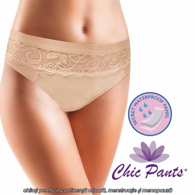 Chic Pants - chiloti pentru incontinenta urinara, menstruatie si menopauza cu 3 straturi de protectie