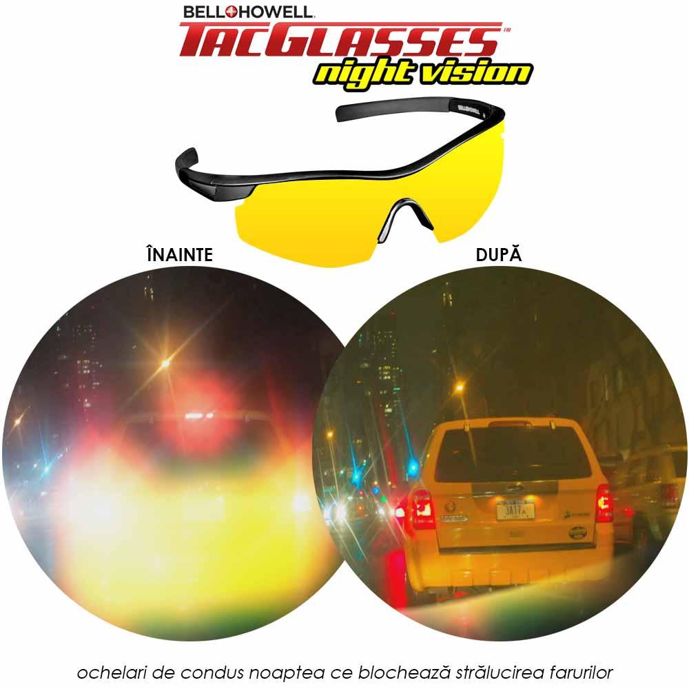 TacGlasses Night Vision - ochelari de condus noaptea ce blocheaza stralucirea farurilor