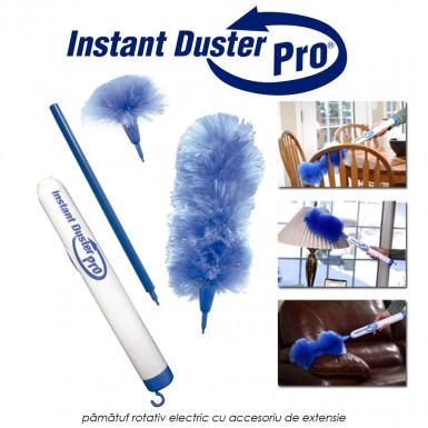 Instant Duster Pro - pamatuf rotativ electric cu accesoriu de extensie