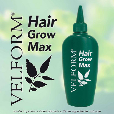Velform Hair Grow Max - solutie impotriva caderii parului cu 22 de ingrediente naturale