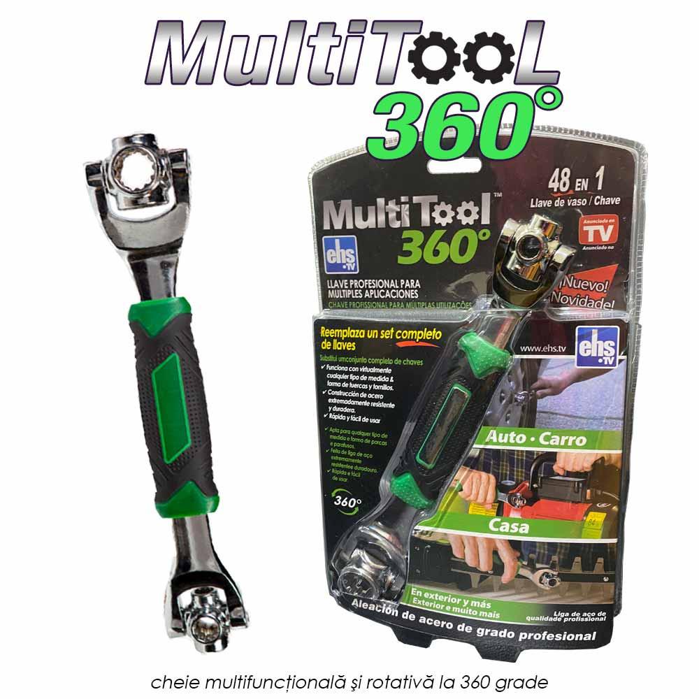 Multitool 360 - cheie multifunctionala si rotativa la 360 grade