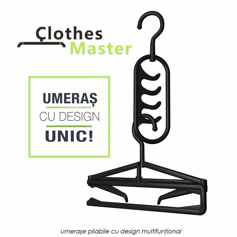 Clothes Master - 5+5 umerase pliabile ce salveaza pana la 75% din spatiu in sifonier