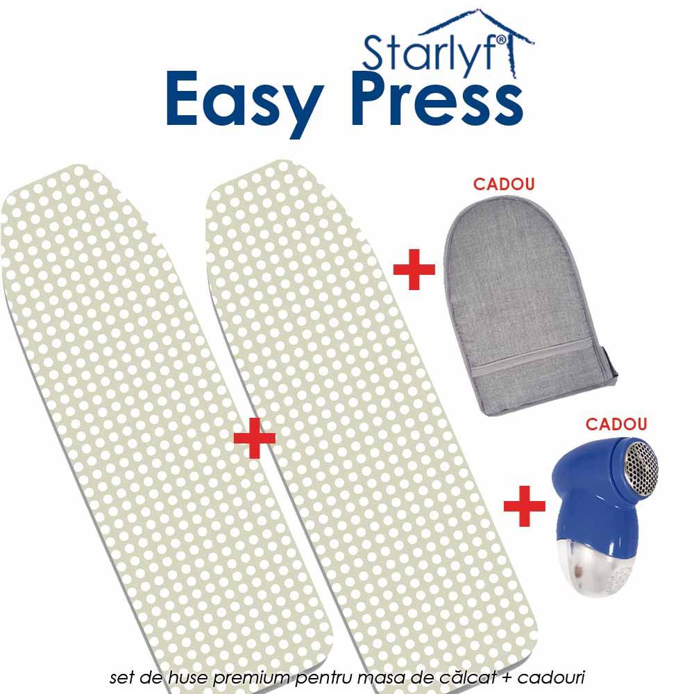 Starlyf Easy Press - set de huse pentru masa de calcat ce permit calcatul pe ambele parti, in acelasi timp