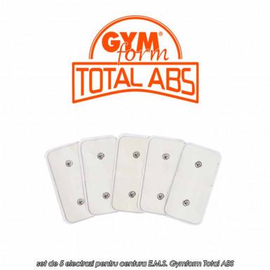 Gymform Total ABS - set de 5 electrozi originali pentru centura E.M.S. Total ABS