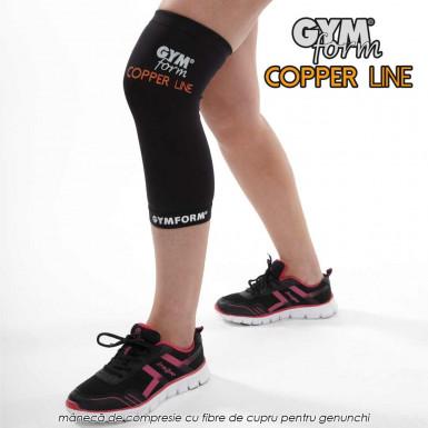 Gymform Copper Line - maneca compresiva pentru genunchi