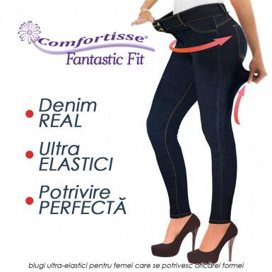 Comfortisse Fantastic Fit - blugi ultra-elastici pentru femei care se intind pana la 13cm si se potrivesc oricarei formei