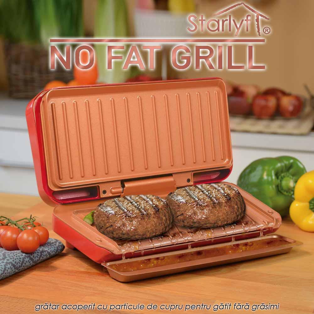 Starlyf No Fat Grill - gratar acoperit cu particule de cupru pentru gatit fara grasimi