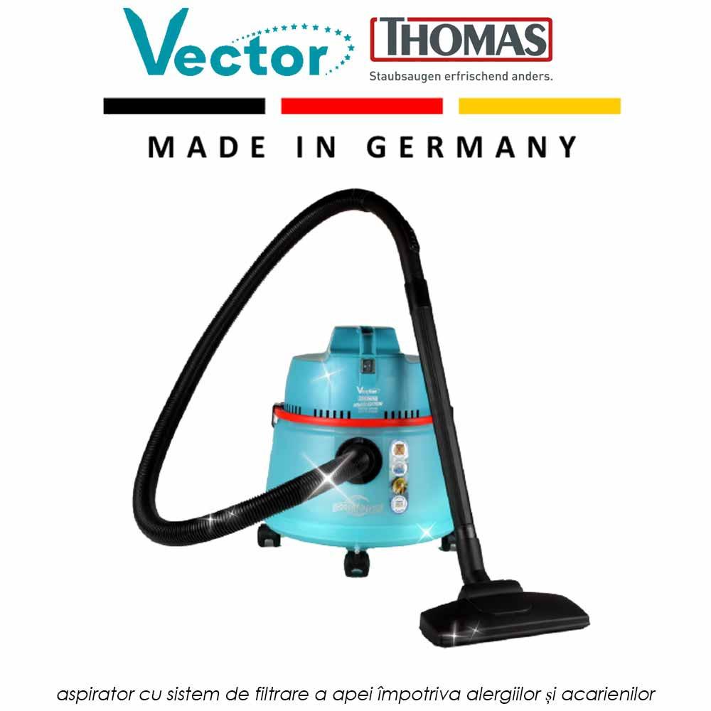 VECTOR - aspirator cu sistem de filtrare a apei impotriva alergiilor si acarienilor