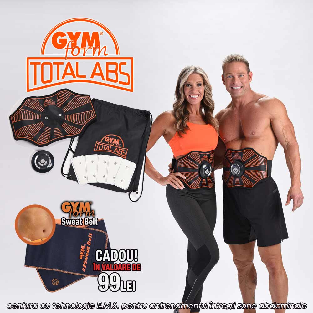 Gymform Total ABS - noua centura cu tehnologie E.M.S. pentru antrenamentul intregii zone abdominale