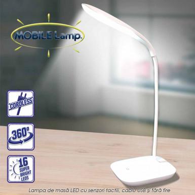 Starlyf Mobile Lamp - lampa LED pentru masa cu senzori de atingere, cu cablu USB si fara fire