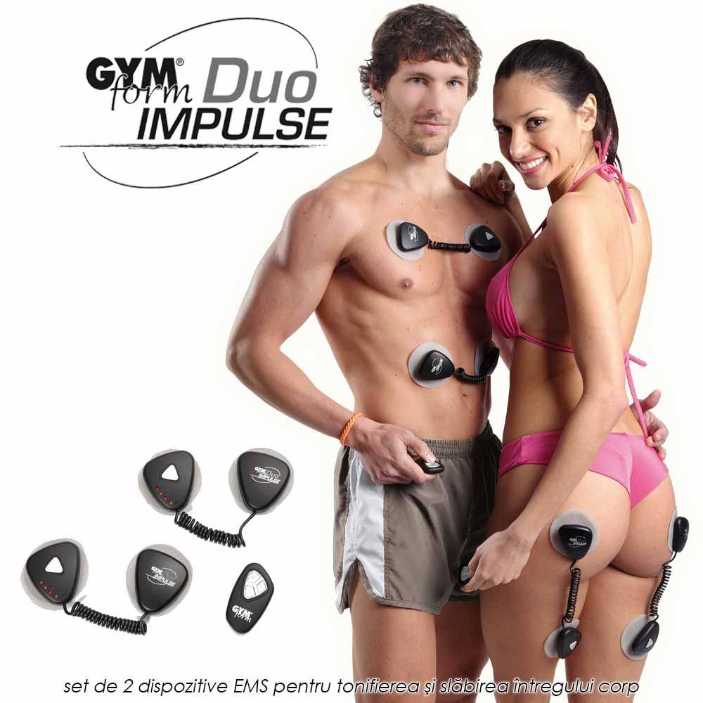Gymform Duo Impulse - set de 2 dispozitive EMS pentru tonifierea si slabirea intregului corp