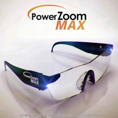 Power Zoom Max - ochelari lupa pentru marire 160% cu 2 LED-uri incorporate
