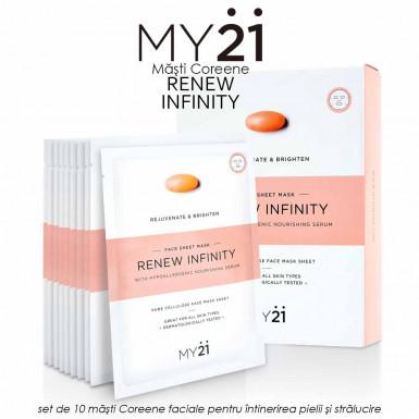 MY21 Renew Infinity - set de 10 masti Coreene faciale pentru intinerirea pielii si stralucire