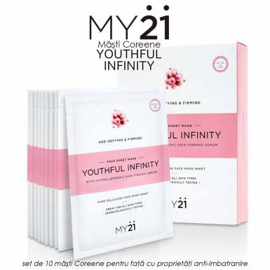 MY21 Youthful Infinity - set de 10 masti Coreene pentru fata cu proprietati anti-imbatranire si fermitate a tenului