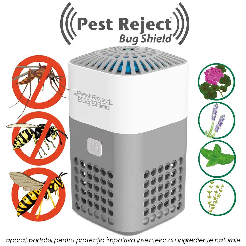 Pest Reject Bug Shield - aparat portabil pentru protectia impotriva insectelor cu ingrediente naturale