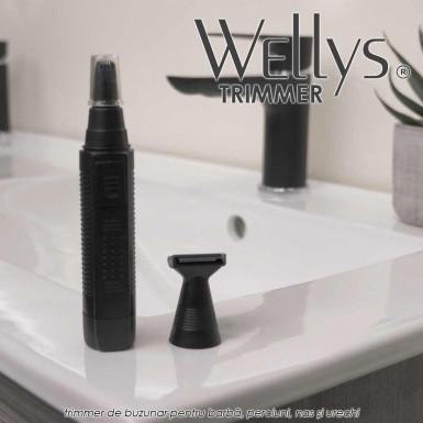 Trimmer Wellys - trimmer de buzunar pentru barba, perciuni, nas si urechi