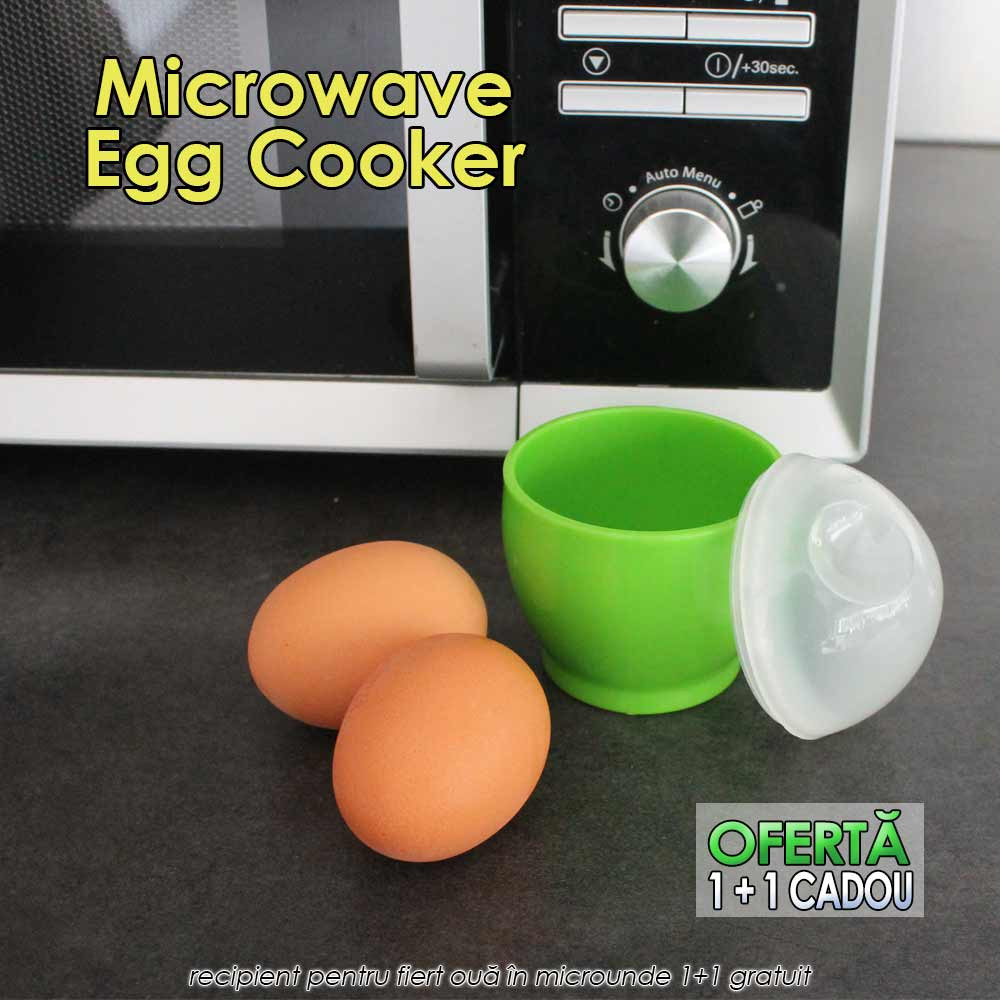 Microwave Egg Cooker - recipient pentru fiert oua in microunde 1+1 gratuit