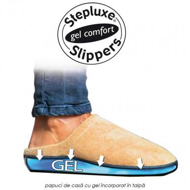 Stepluxe Slippers - papuci cu gel incorporat in talpa pentru ameliorarea durerilor, confortabili ce nu isi pierd forma