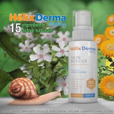 HelixDerma Spray - formula pentru dermatita, mancarime, urticarie, roseata si piele uscata