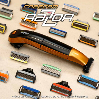 Freedom Razor - maner universal pentru rezervele aparatelor de ras si trimmer de tuns electric incorporat