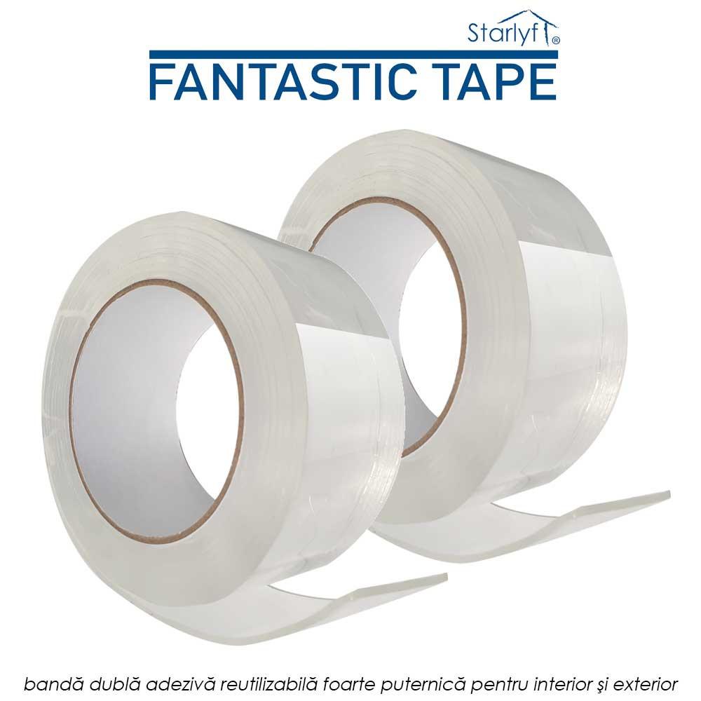 Starlyf Fantastic Tape - banda dubla adeziva reutilizabila foarte puternica pentru interior si exterior