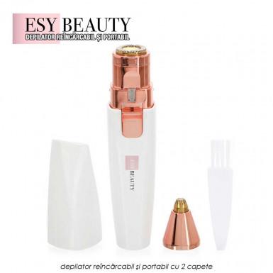 ESY Beauty - depilator reincarcabil si portabil pentru parul facial si corporal