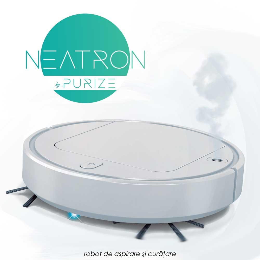 Neatron - robot de aspirare si curatare cu functie de umidificare a aerului si lumina UV