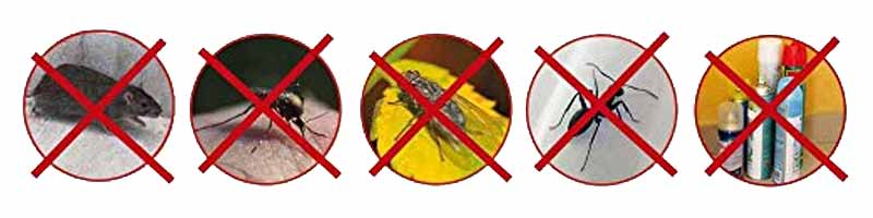 Pests Reject against pests